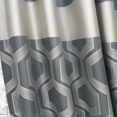 Ткань портьерная Жаккард Купон, бирюза 8