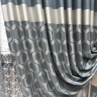 Ткань портьерная Жаккард Купон, бирюза