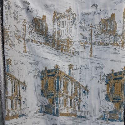 Ткань портьерная Жаккард 425-5 купон город