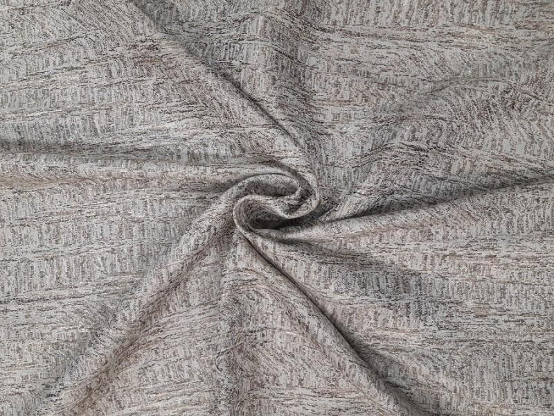 Ткань портьерная Жаккард с рисунком, цвет песочный