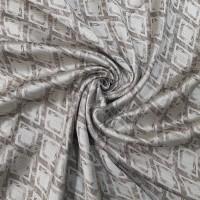 Ткань портьерная Жаккард с рисунком, цвет коричневый