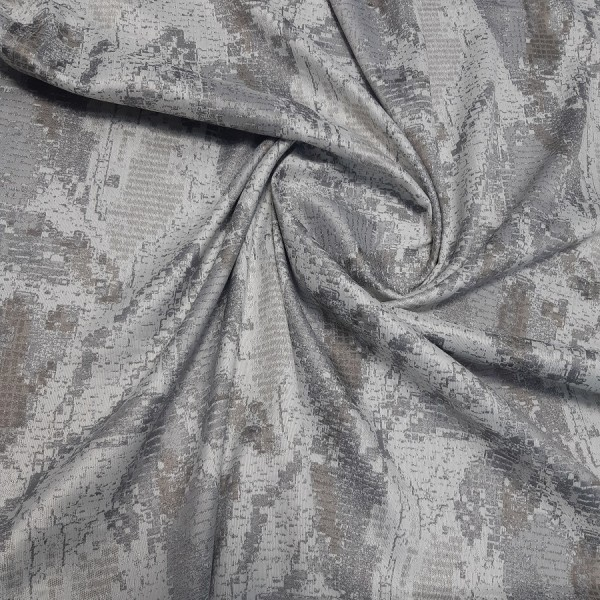 Ткань для штор портьерная Жаккард, серый