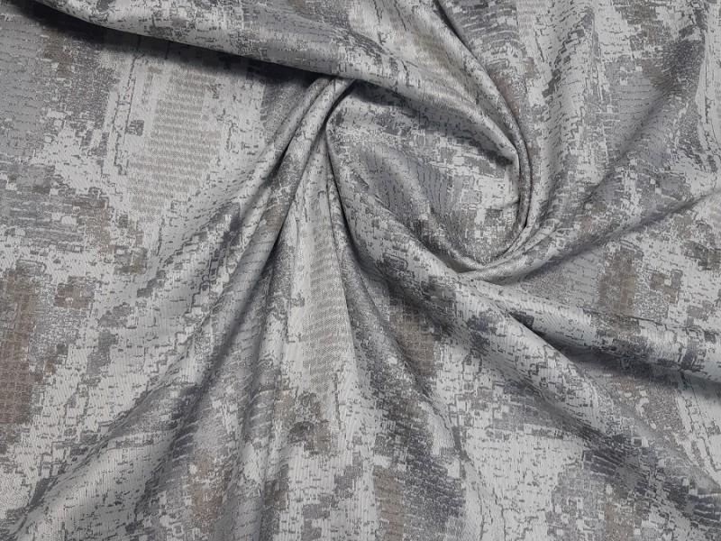 Ткань портьерная Жаккард с рисунком, цвет серый
