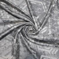Ткань портьерная Жаккард с рисунком Геометрия, цвет серый
