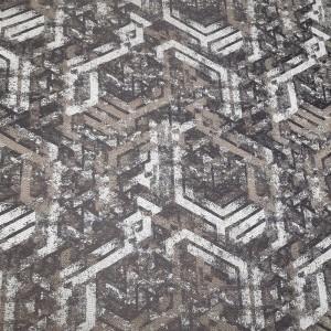 Ткань портьерная Жаккард Геометрия, светло-коричневый, 25.1.
