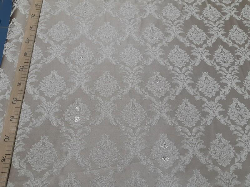 Ткань портьерная Жаккард Вензель