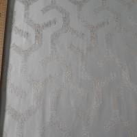 Ткань портьерная Жаккард с рисунком Геометрия, цвет песочный
