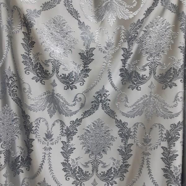 Ткань для штор портьерная Жаккард Вензель, серый