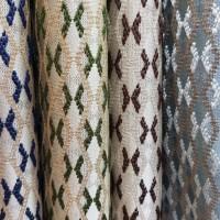 Ткань портьерная Жаккард с рисунком, цвет голубой