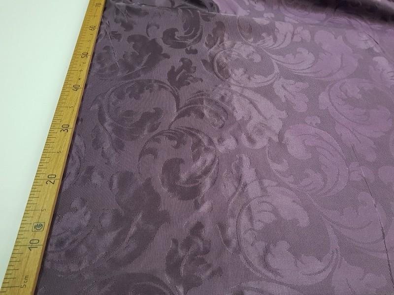 Ткань портьерная Жаккард, цвет баклажановый