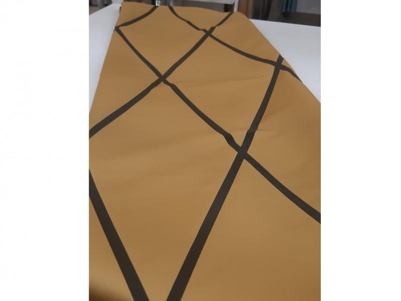 Ткань портьерная Жаккард с рисунком Геометрия, цвет горчичный