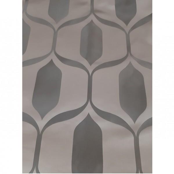 Ткань портьерная Жаккард Геометрия, коричневый, шир. 1.4 м. / ост. 2.6 м.