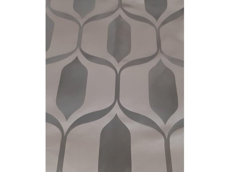 Ткань портьерная Жаккард с рисунком Геометрия, цвет коричневый