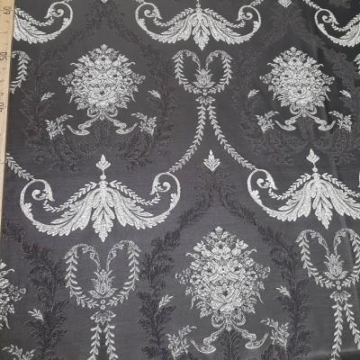 Ткань портьерная Жаккард Вензель, коричневый