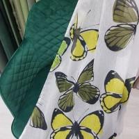 Ткань для штор Батист с рисунком Бабочки
