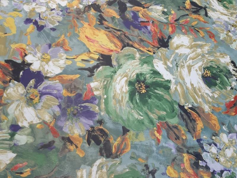 Блэкаут акварель цветы, 44.1