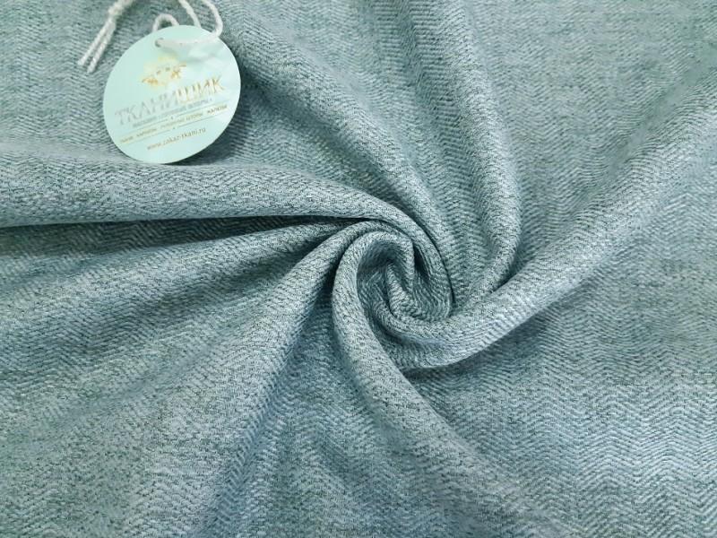 Ткань Елочка, мережка бирюзовый