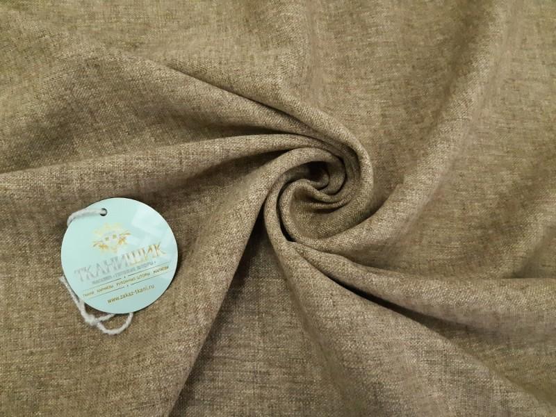 Ткань Овечка, цвет светло-коричневый мережка