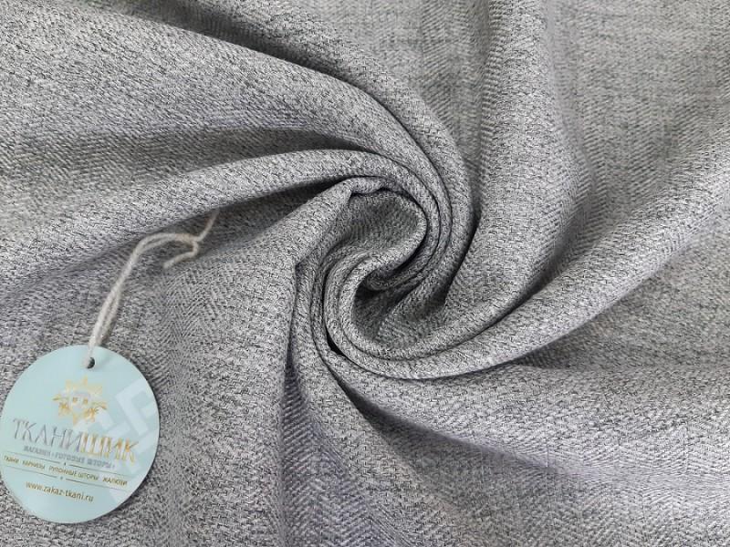 Ткань Елочка, мережка серый