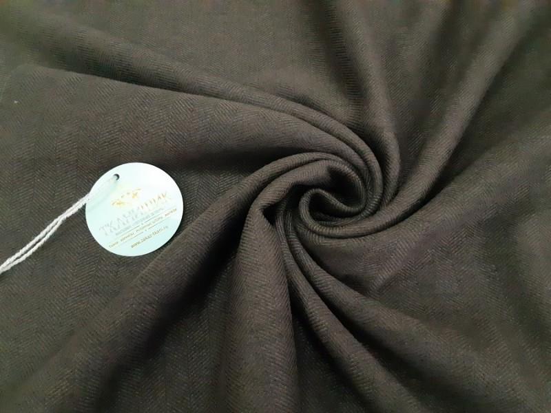 Ткань Елочка, цвет шоколадный