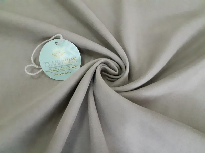 Ткань Нубук,  цвет светло-серый