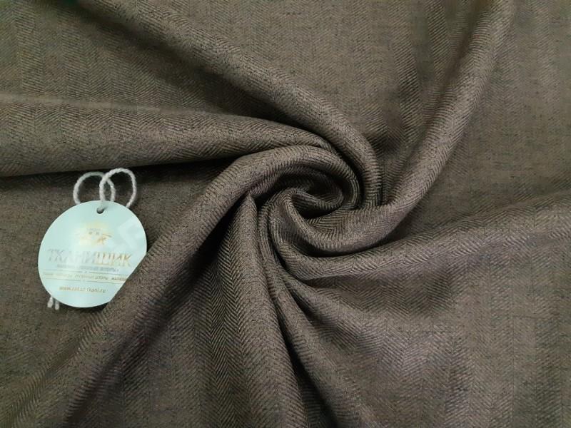 Ткань Ёлочка, цвет коричневый