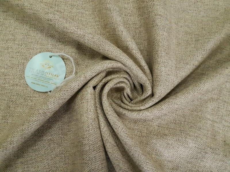 Ткань Ёлочка,  цвет светло-коричневый
