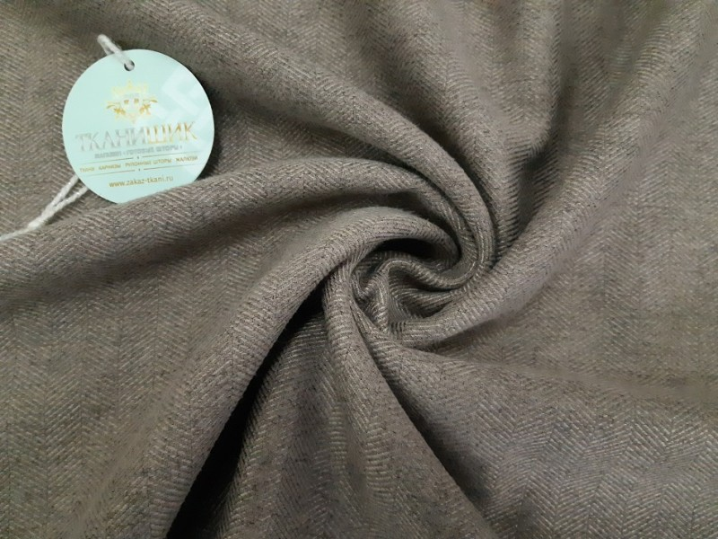 Ткань Елочка,  цвет капучино