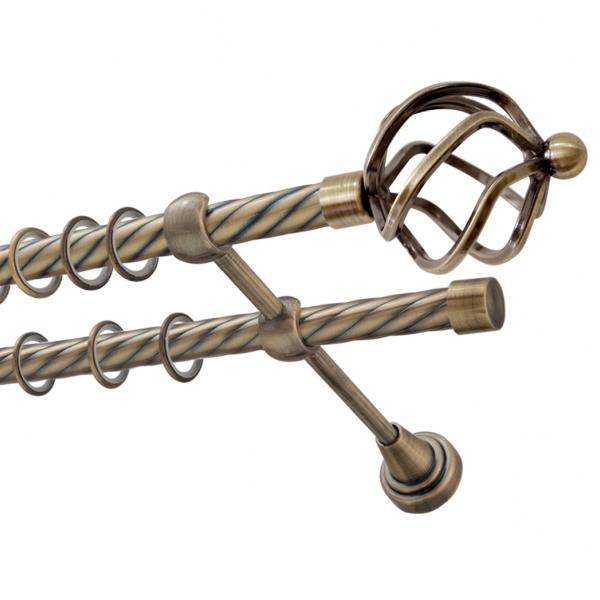 Карниз двухрядный д.16 мм. трубы гладкие и витые