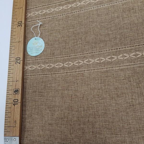 Лен мережка, св.-коричневый / остаток 9.6 м.; г.ш. 1.9х2.7 м.