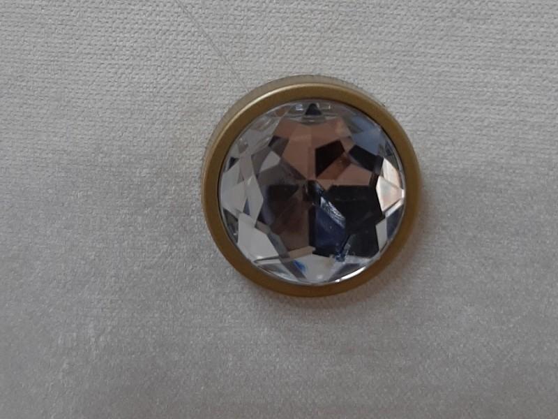Магнит для штор Круг Кристалл, золото