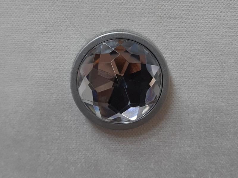 Магнит для штор Круг Кристалл, серебро