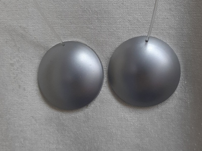 Магнит для штор на леске, серебро