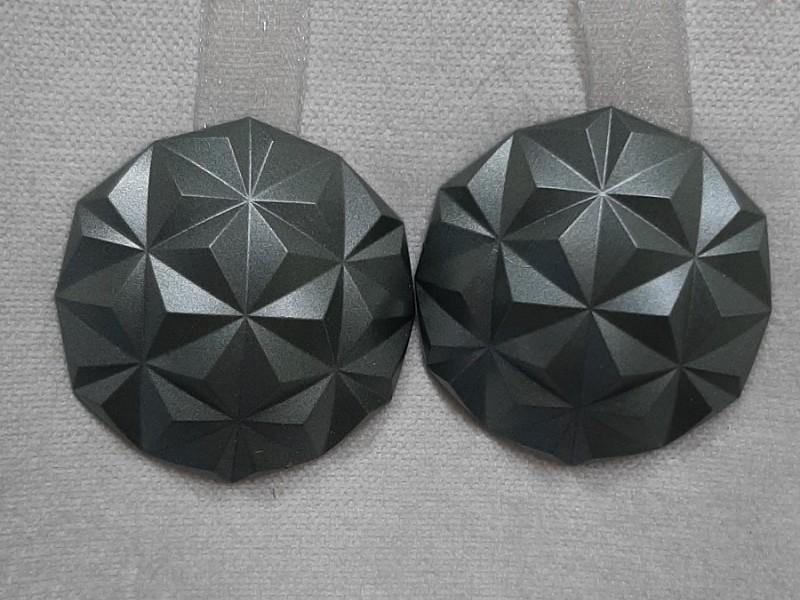 Магнит для штор Призма на ленте,  цвет темно-серый