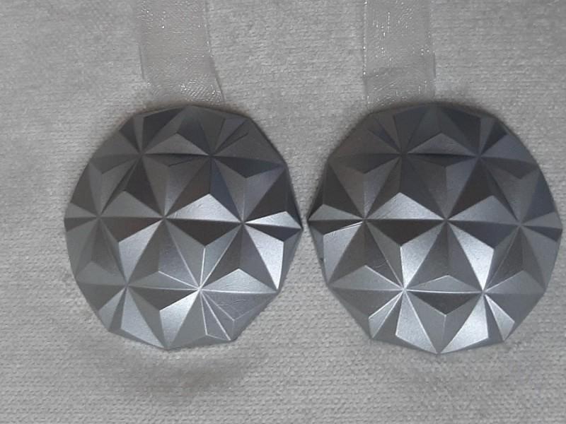 Магнит для штор Призма на ленте, цвет светло-серый