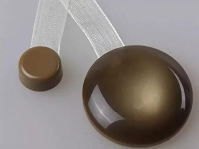 Магнит для штор Нефрит на ленте, цвет коричневый