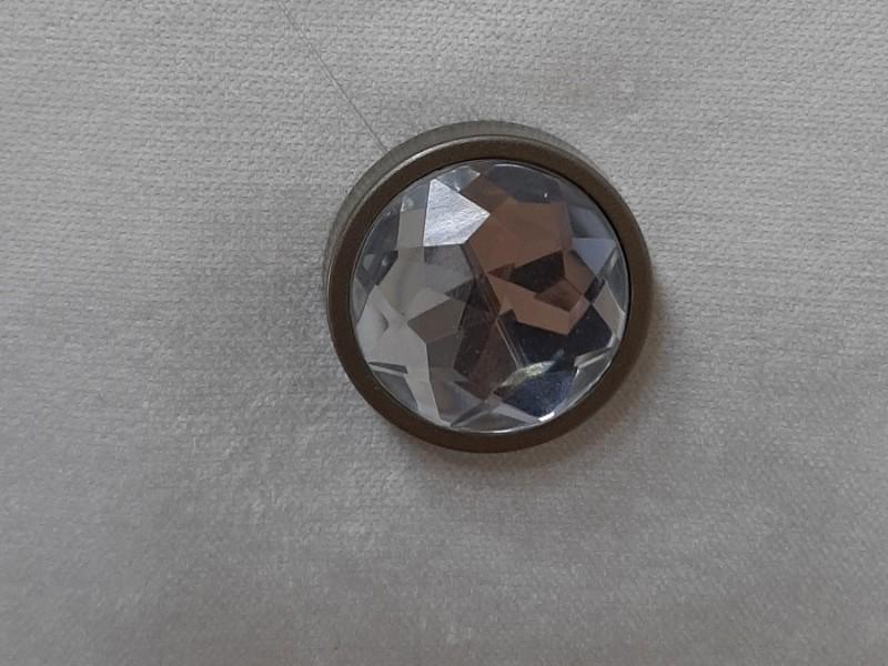 Магнит для штор Круг Кристалл, бронза