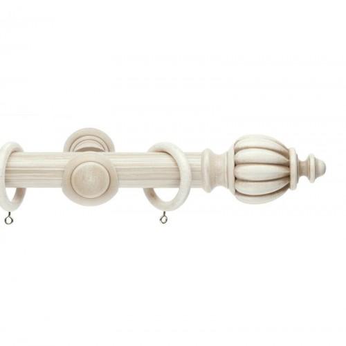 Круглые карнизы с деревянной и пластиковой фурнитурой