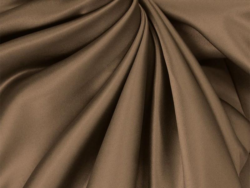 Сатен коричневый