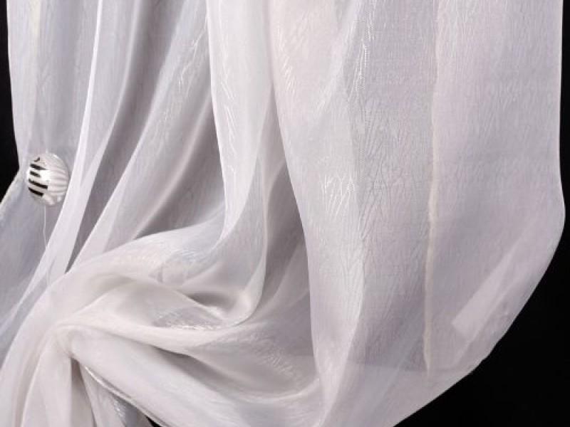 Органза Соты, цвет белый