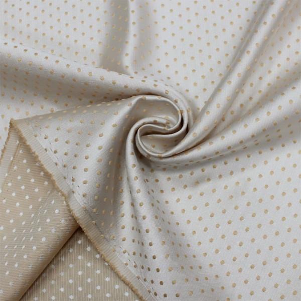 Ткань портьерная Жаккард Горошек, золотистый