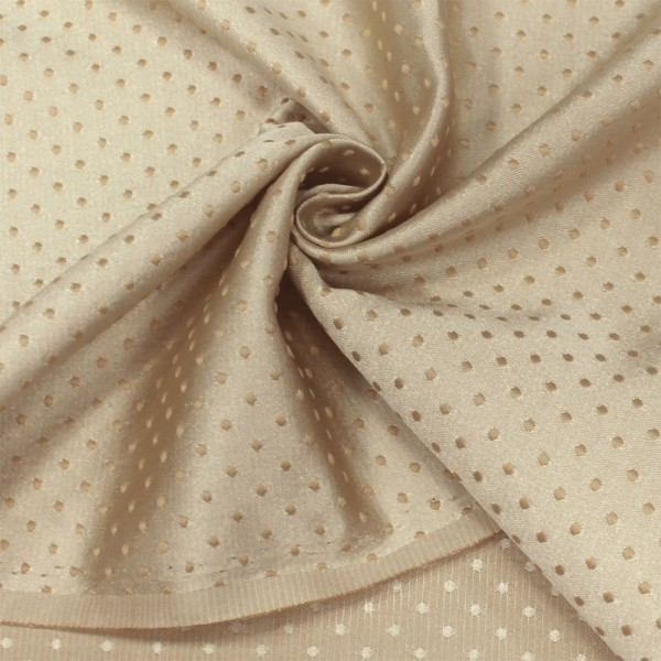 Ткань портьерная Жаккард Горошек, пыльная роза