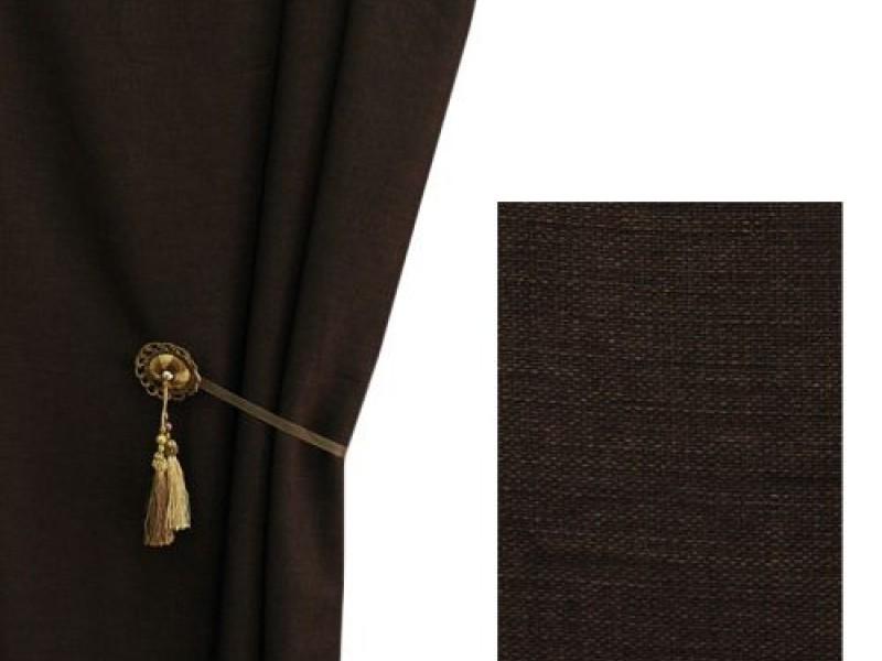 Ткань для штор лён, венге