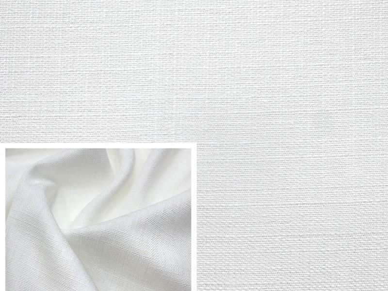 Ткань лен, цвет белый
