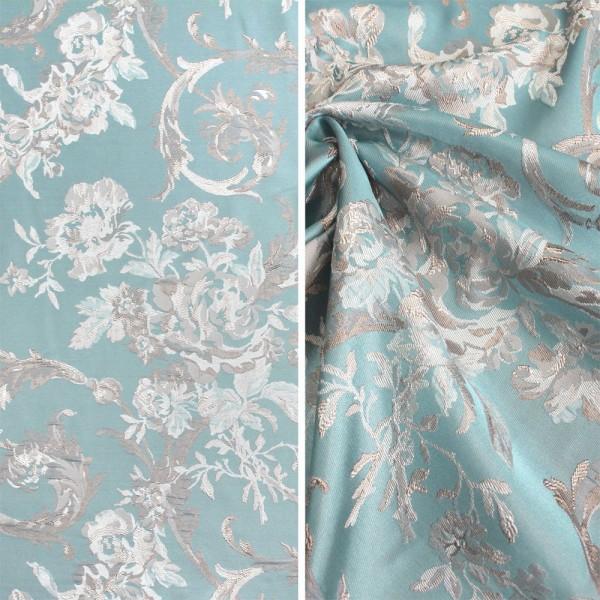 Ткань портьерная Жаккард, бирюза