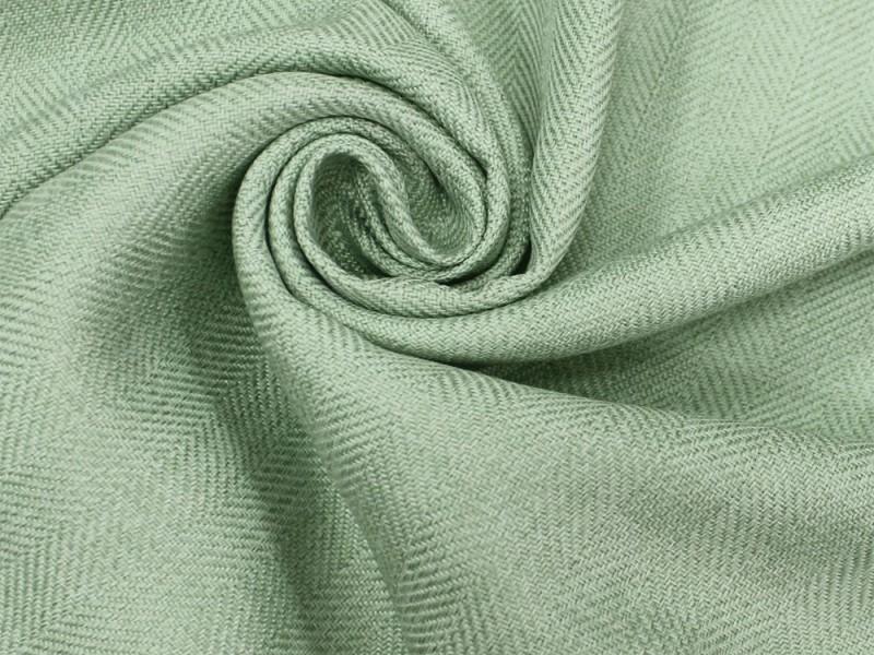 Ткань Елочка,  цвет морская волна