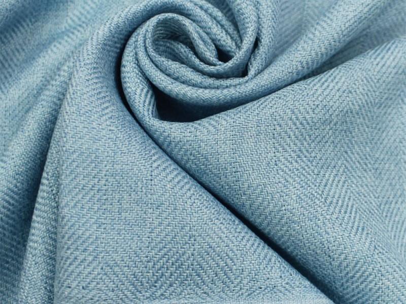 Ткань Елочка,  цвет голубой