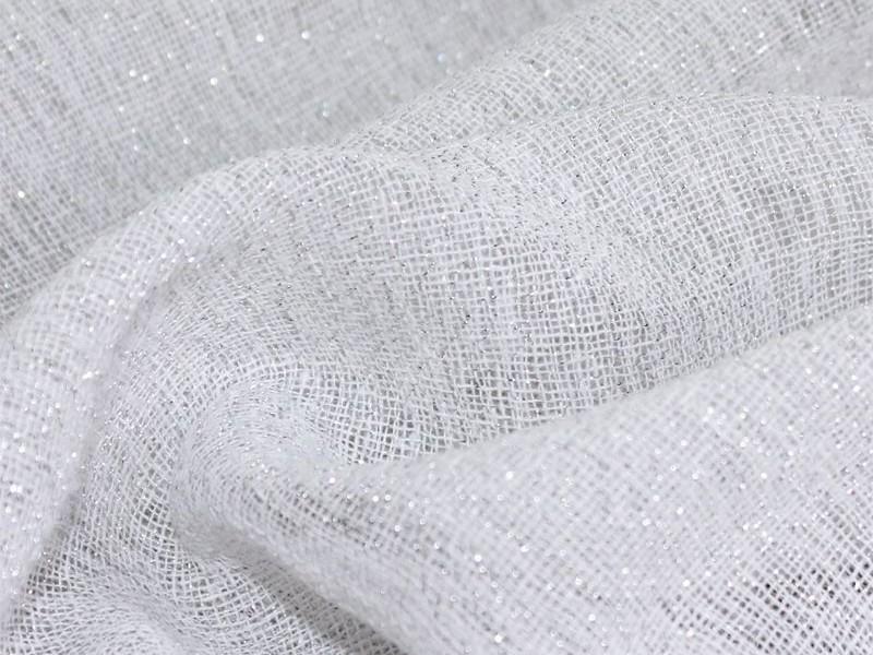 Лен тюль, цвет белый