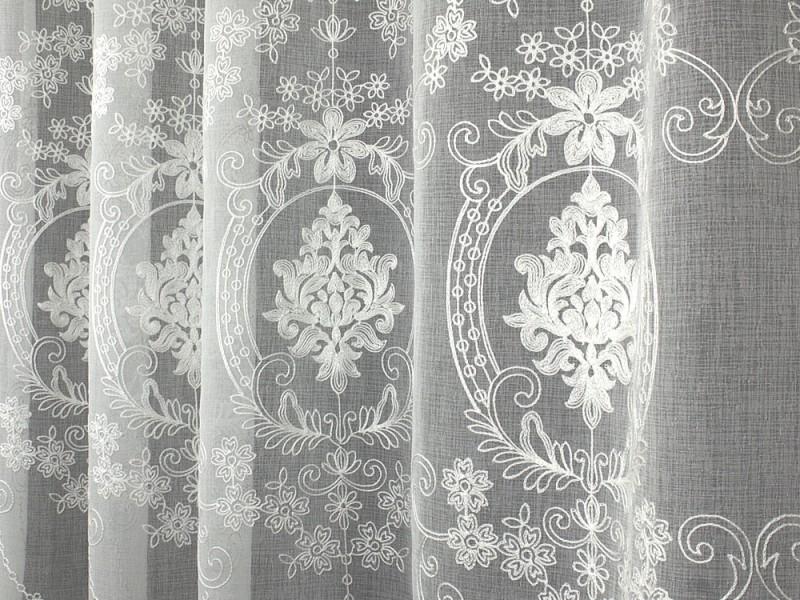Лён вышивка 601, цвет белый, 280 см