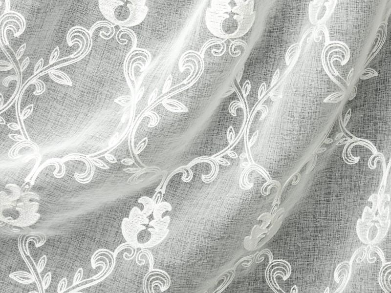 Лён вышивка 603, цвет белый, 280 см